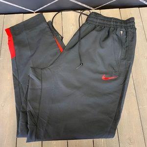 Mens Nike Basketball Dri-Fit Black Red Sweatpants